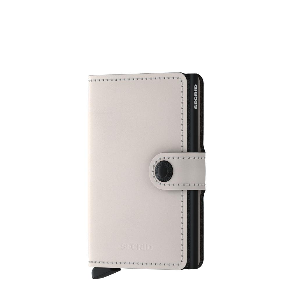 Secrid Secrid Mini Wallet Matte Chalk leren pasjeshouder
