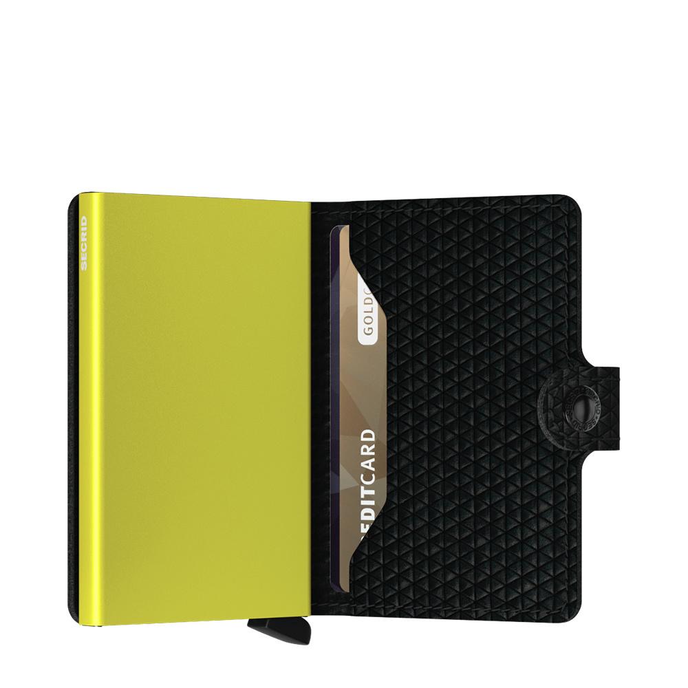 Secrid Secrid Mini Wallet Card Protector Diamond Black leren uitschuifbare pasjeshouder