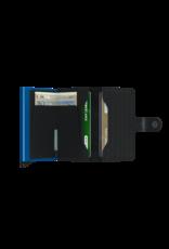 Secrid Secrid Mini Wallet Card Protector Optical Black leren uitschuifbare pasjeshouder
