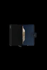 Secrid Secrid Mini Wallet Card Protector Dash Navy leren uitschuifbare pasjeshouder