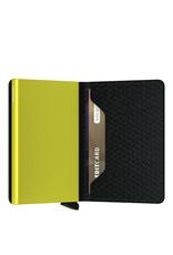Secrid Secrid Slim Wallet Card Protector Diamond Black leren uitschuifbare pasjeshouder