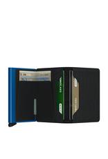 Secrid Secrid Slim Wallet Card Protector Optical Black leren uitschuifbare pasjeshouder