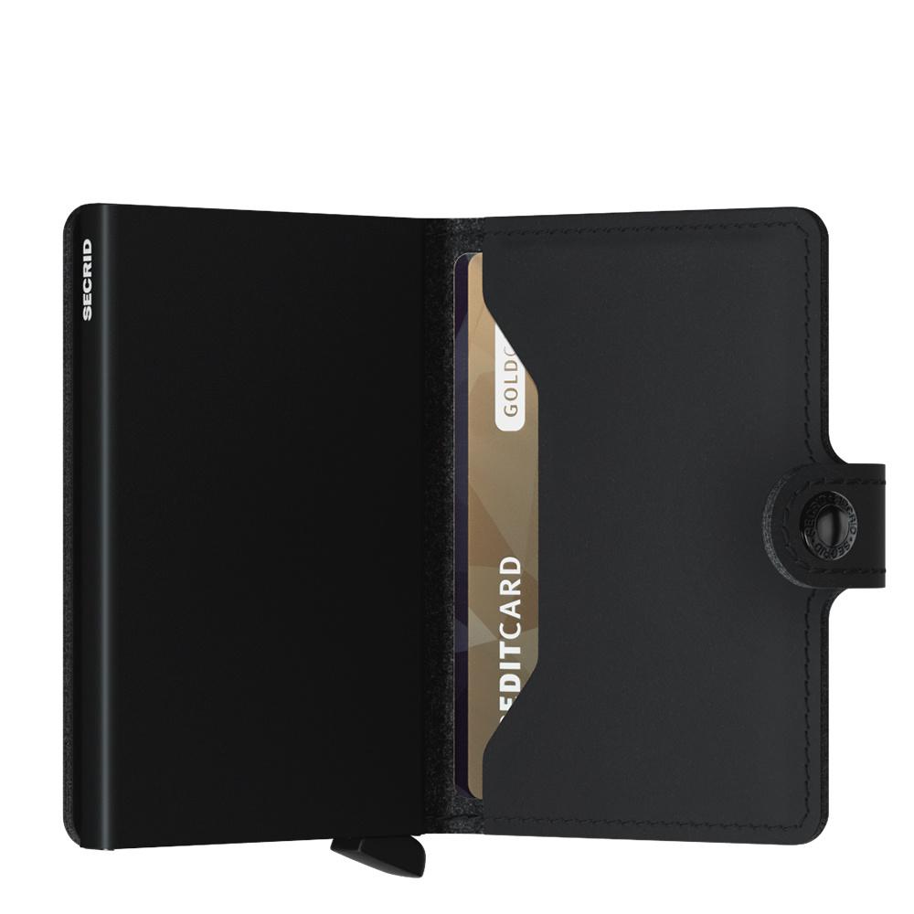 Secrid Vegan Secrid Mini Wallet Soft Touch Cardprotector vegan leren uitschuifbare pasjeshouder