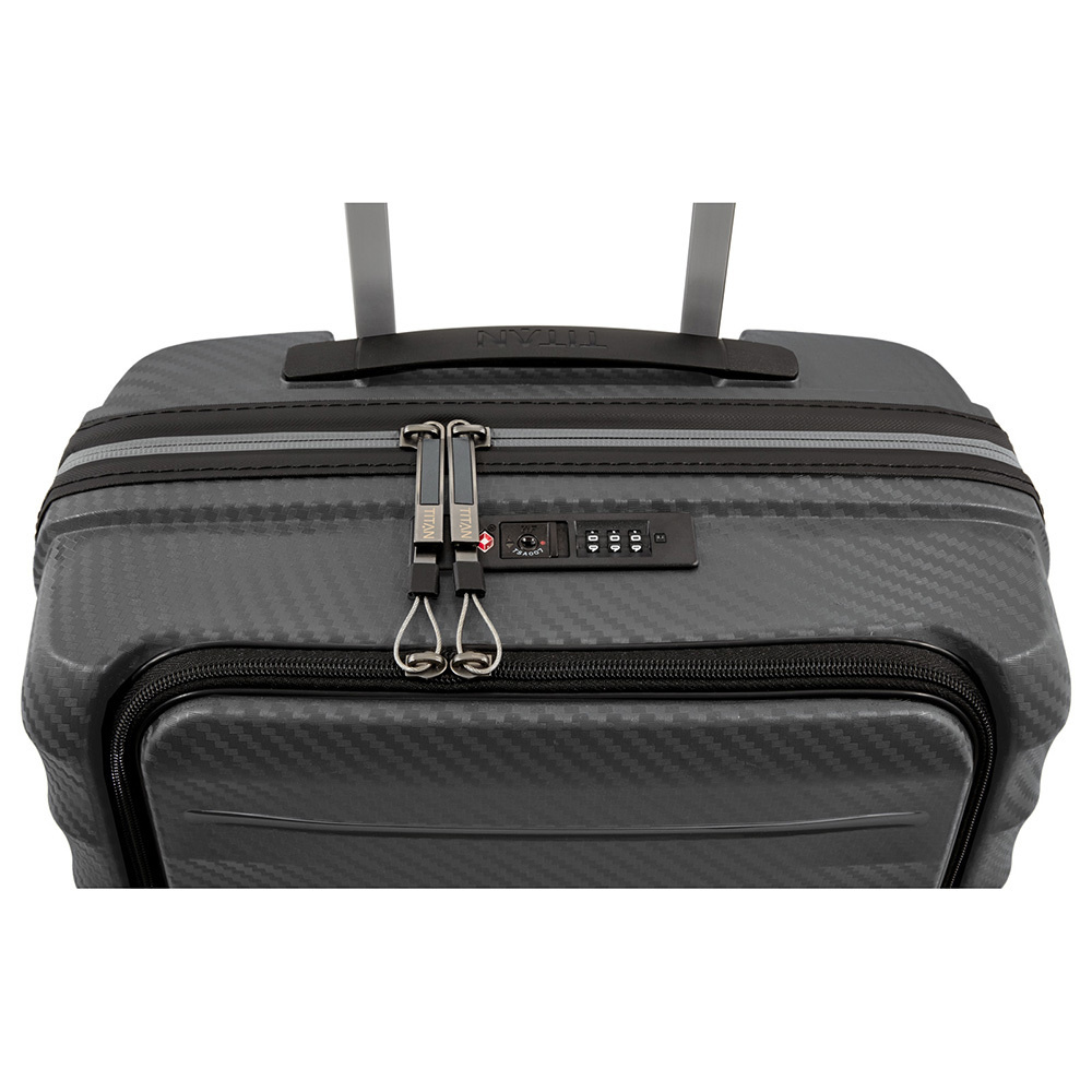 Titan Titan Highlight - harde handbagagekoffer met voorvak - Dark Grey