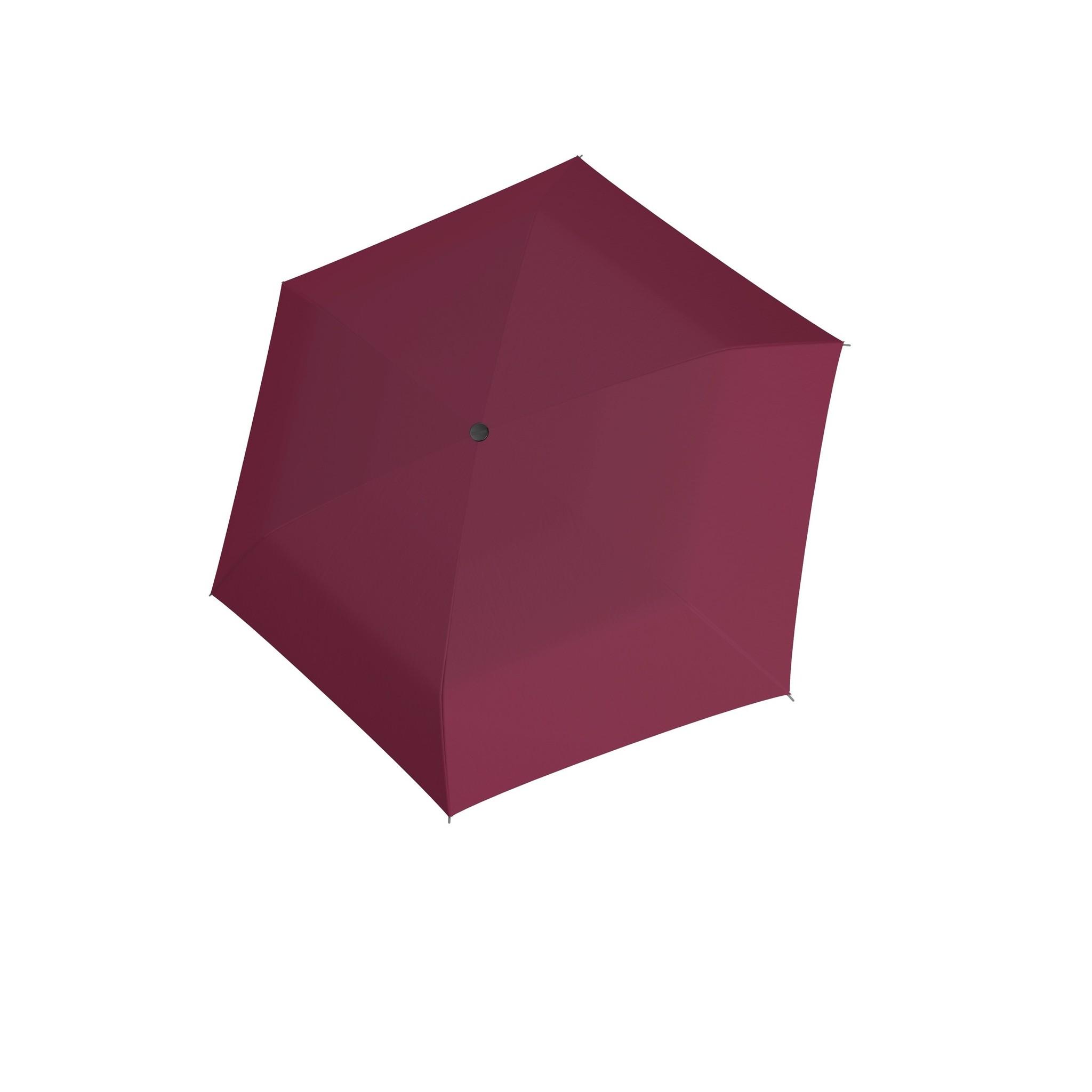 Doppler Doppler Carbonsteel mini slim - Royal Berry - zeer lichte platte paraplu