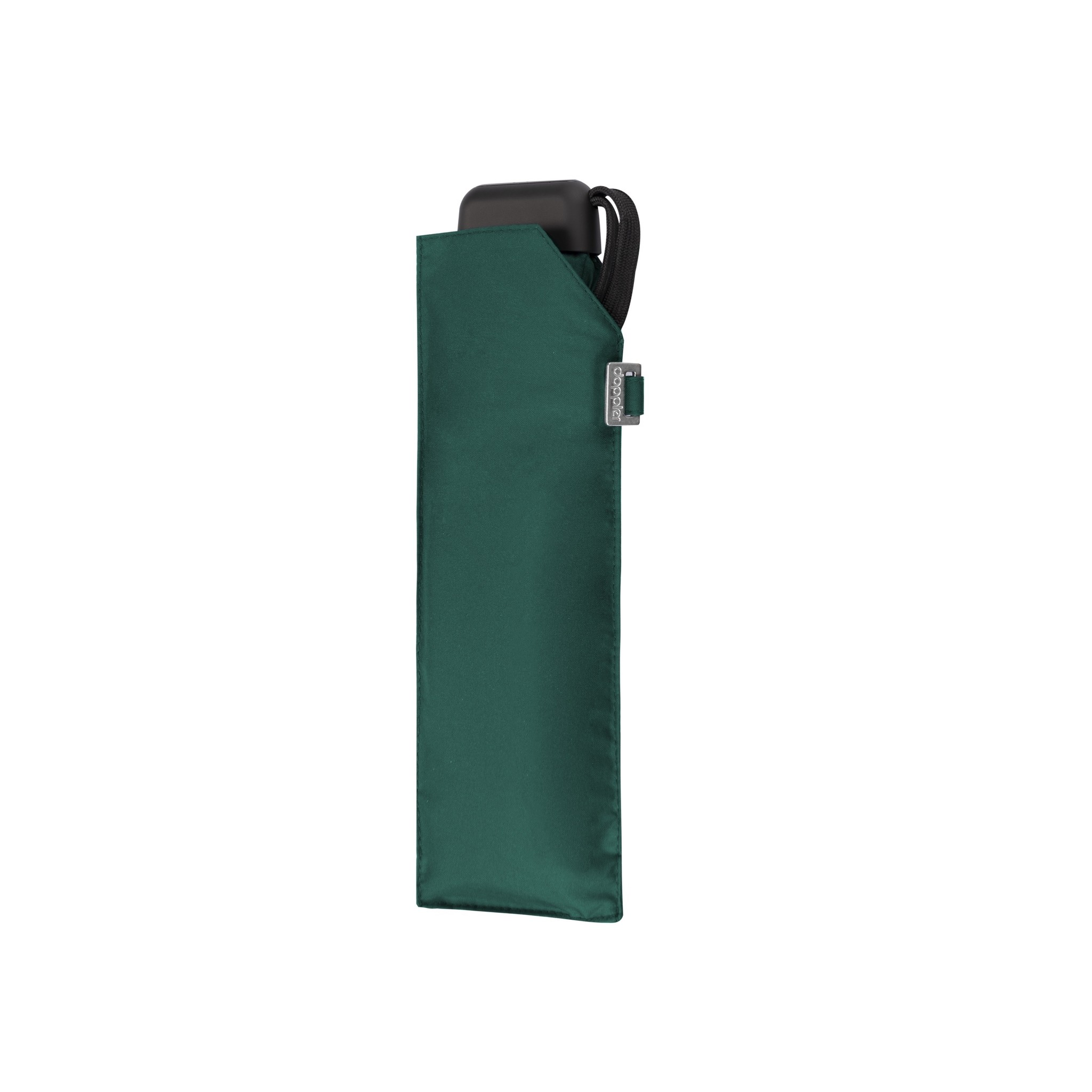 Doppler Doppler Carbonsteel mini slim - Evergreen - zeer lichte platte paraplu