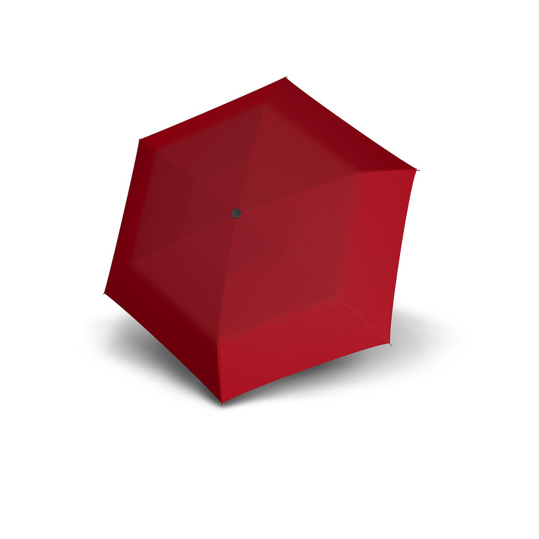 Doppler Doppler Carbonsteel mini slim - Rood - zeer lichte platte paraplu