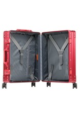 "Aleon Aleon 21"" International Carry-on - Aluminium 55 x 40 x 20 cm handbagage Reiskoffer - rood"