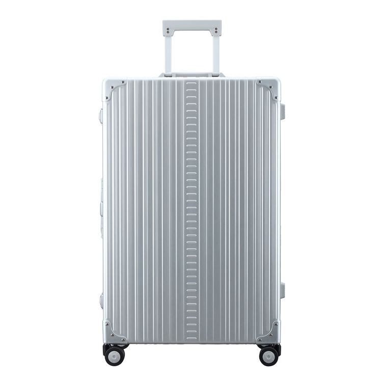 "Aleon Aleon 30"" Macro Traveler Aluminium grote maat Reiskoffer - Platinum zilver"