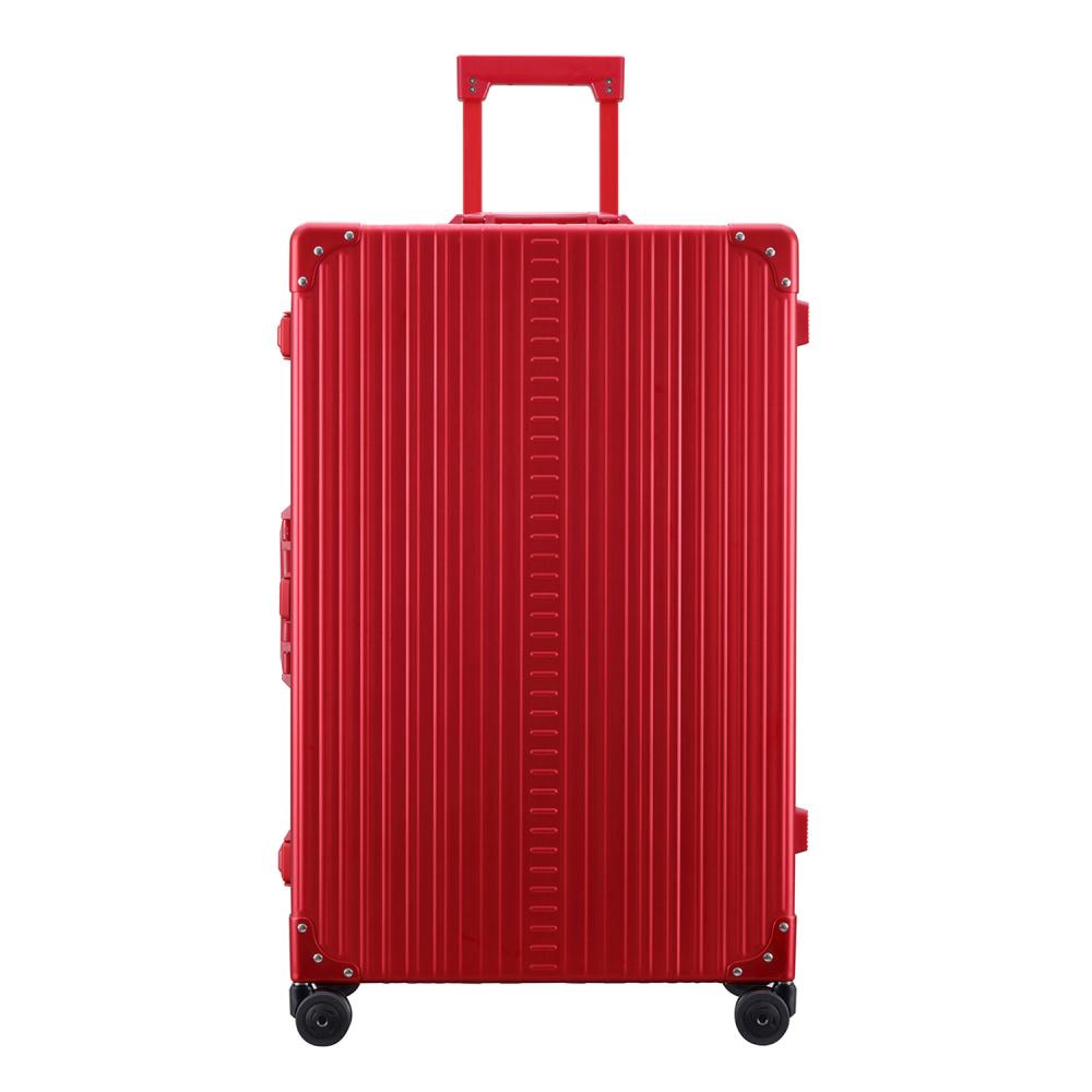 "Aleon Aleon 30"" Macro Traveler Aluminium grote maat Reiskoffer - Ruby Rood"