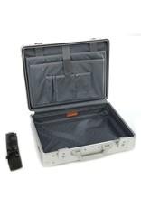 Aleon Aleon 17 Aluminium Attache Laptop koffer met 15 inch laptopvak - Platinum zilver