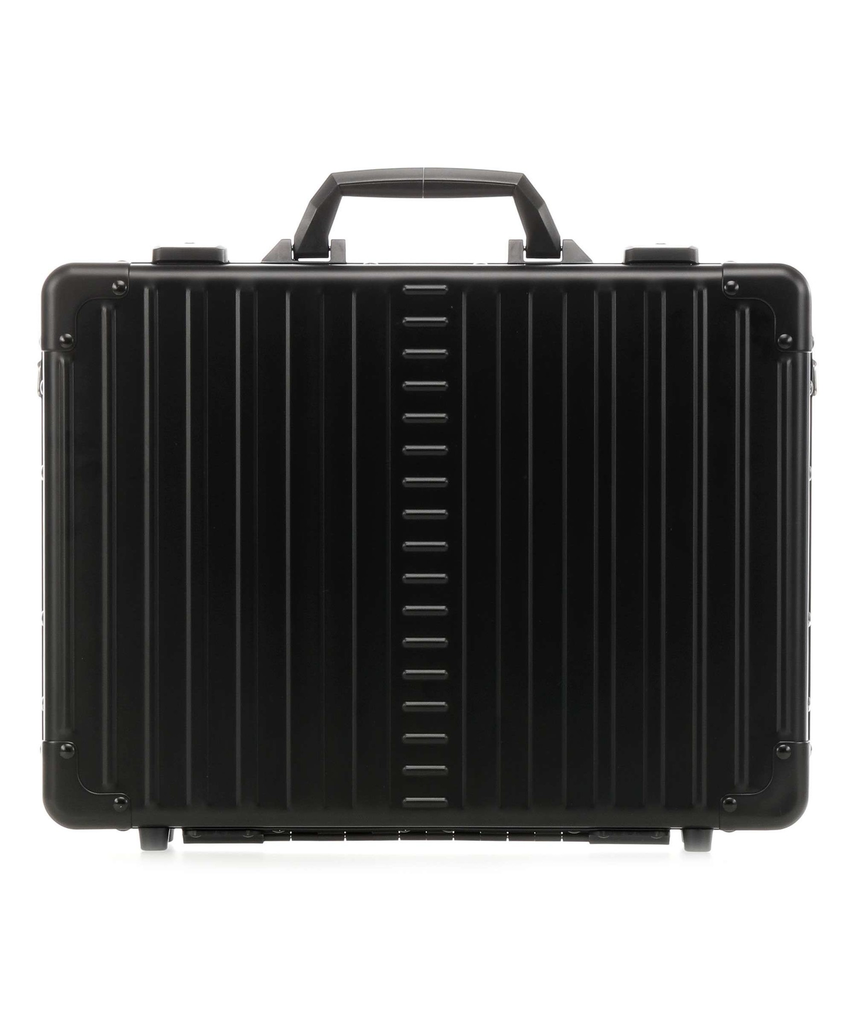 Aleon Aleon 17 Aluminium Attache Laptop koffer met 15 inch laptopvak - Onyx zwart
