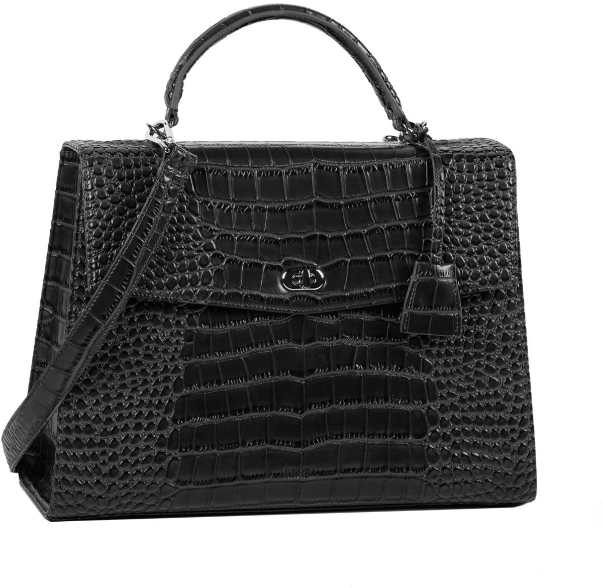 "Socha Socha Audrey Businessbag 13.3"" Croco Black"