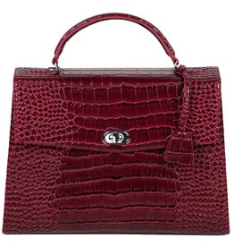 "Socha Socha Audrey Businessbag 13.3"" Croco Burgundy"