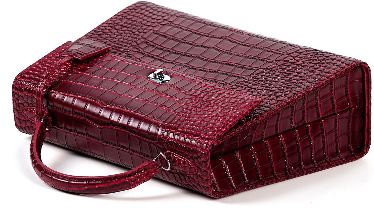 """Socha Socha Audrey Businessbag 13.3"""" Croco Burgundy"""