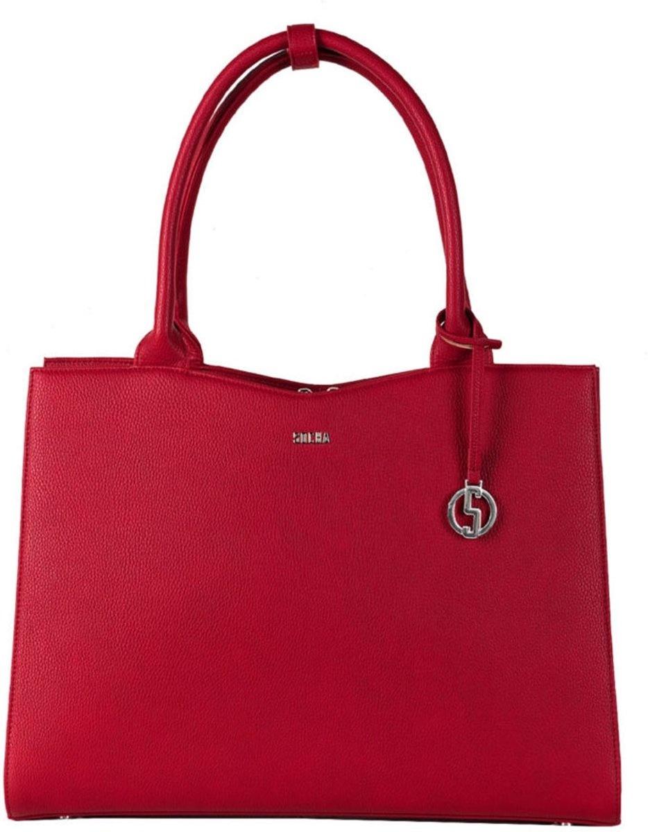 "Socha Socha Businessbag Midi 13.3"" laptoptas Cherry Red"