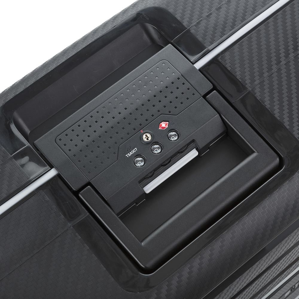 Carryon Steward -  reiskoffer - 75 cm - Black - harde koffer zonder rits