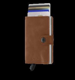Secrid Secrid Mini Wallet Vintage Cognac Silver pasjeshouder