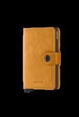 Secrid Secrid Mini Wallet Card Protector Vintage Ochre leren uitschuifbare pasjeshouder