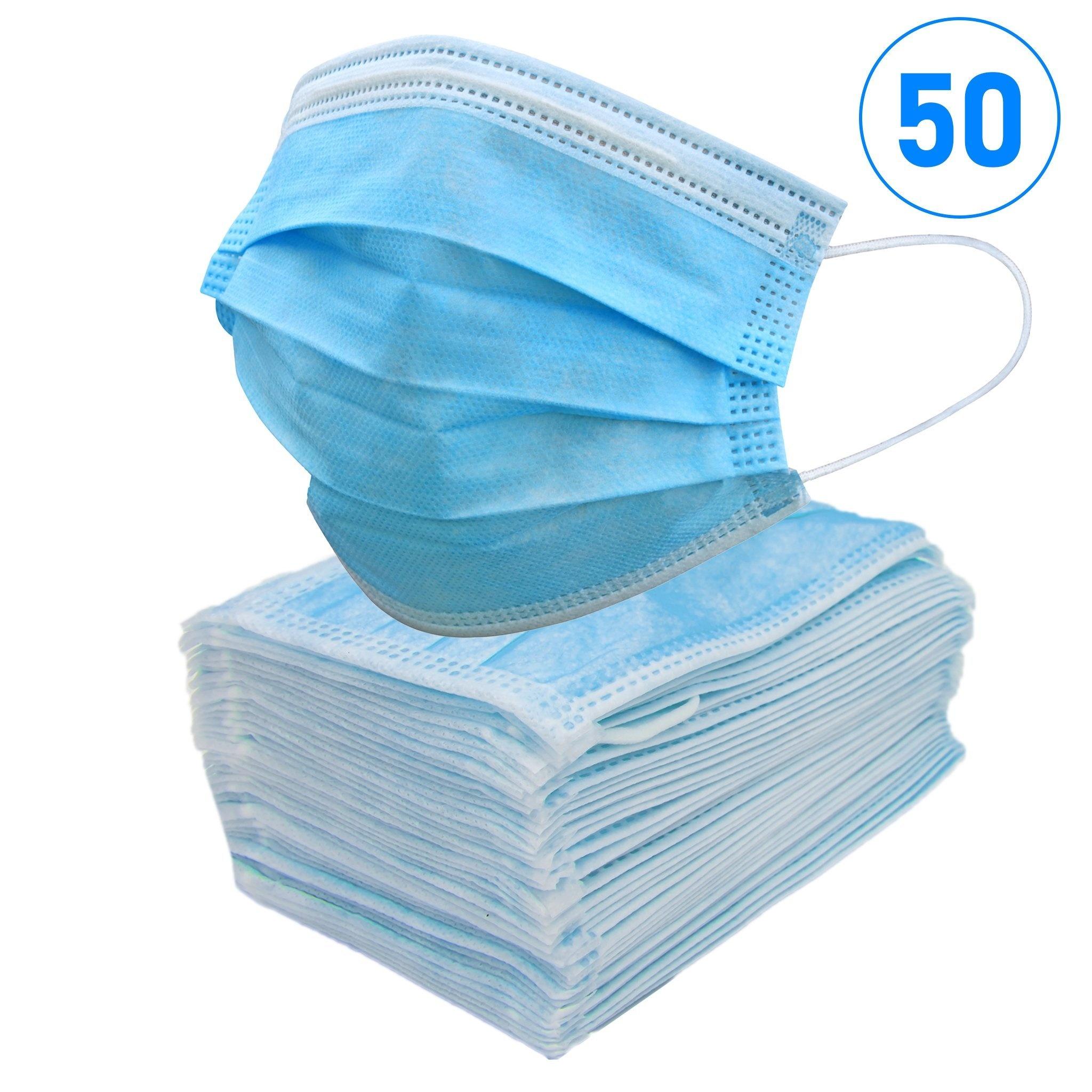 Mondkapjes - Niet Medische 3-Laags Mondmaskers - 50 stuks