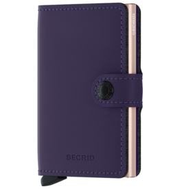 Secrid Secrid Mini Wallet Matte Purple Rose pasjeshouder