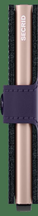 Secrid Secrid Mini Wallet Matte Purple Rose leren uitschuifbare pasjeshouder