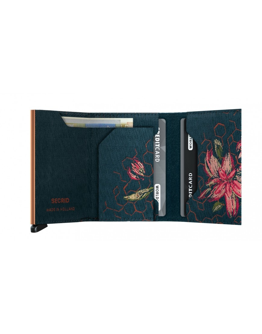 Secrid Secrid Slim Wallet Jacquard Magnolia Teal - Limited Edition