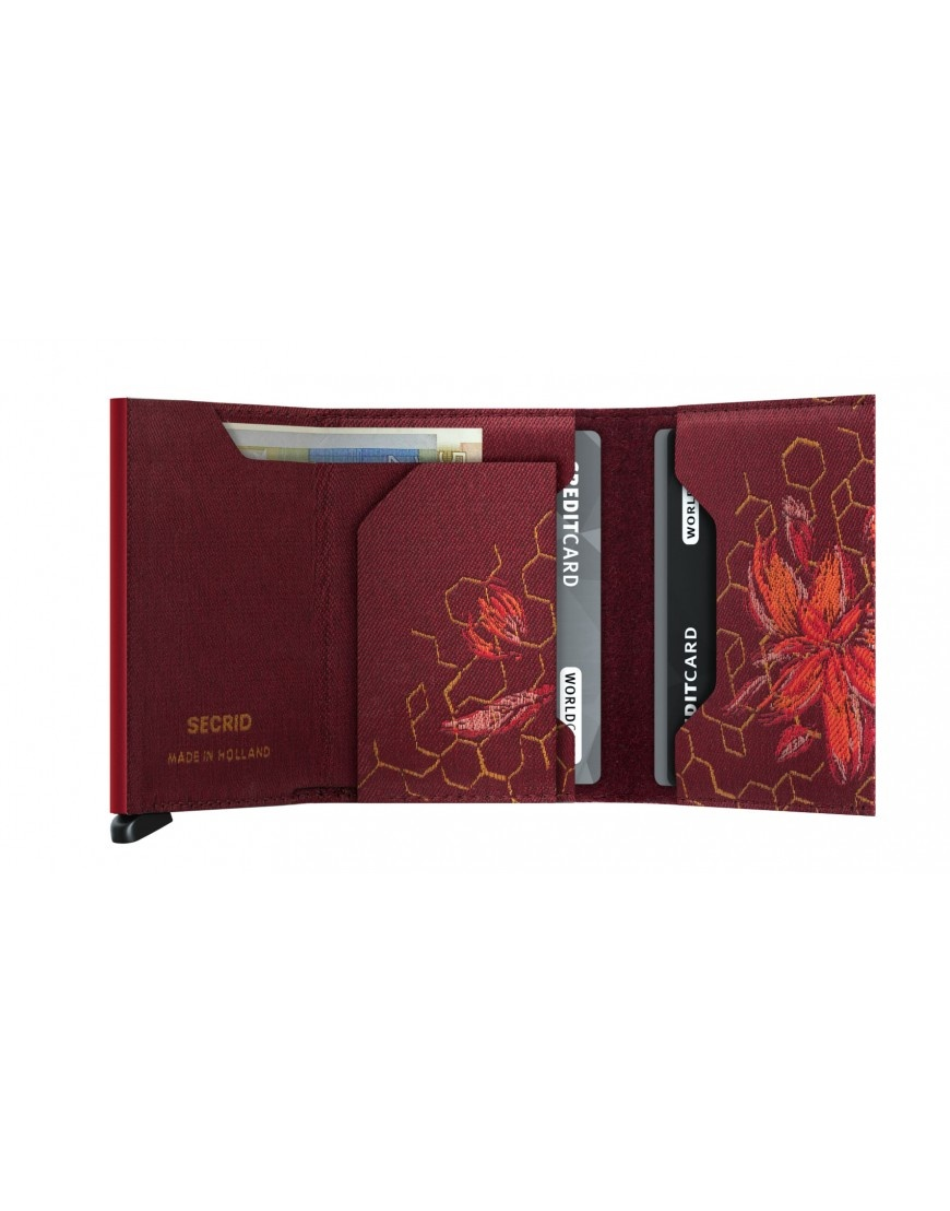 Secrid Secrid Slim Wallet Jacquard Magnolia Bordeaux - Limited Edition