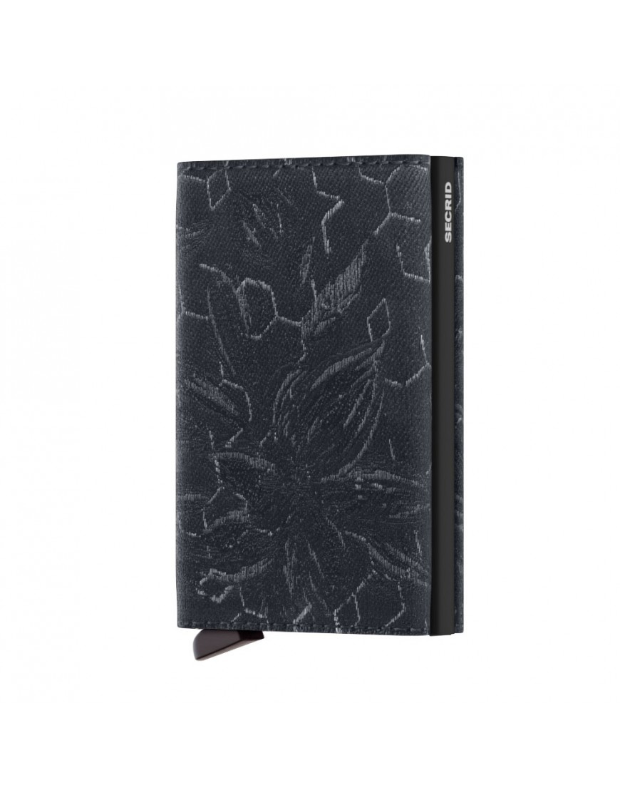 Secrid Secrid Slim Wallet Jacquard Magnolia Navy - Limited Edition