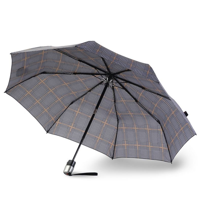 Knirps Knirps T-300 Large Duomatic Windproof Paraplu - Sherlock Tobacco