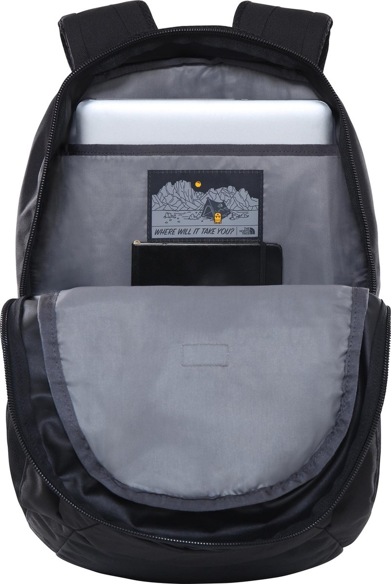 "The North Face The North Face Groundwork Mid Grey / Asphalt Grey 15"" laptoprugzak"