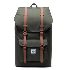 Herschel Herschel Little America Dark Olive Saddle Brown rugzak    - Copy