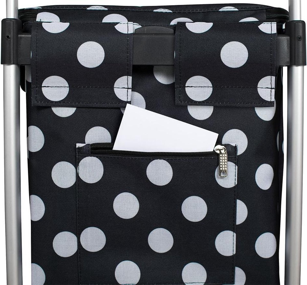 Bamex Bamex Chicago Boodschappentrolley Black Dots met grote opening