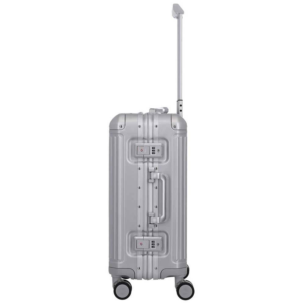 Travelite Next handbagagekoffer - Luxe Aluminium Trolley 55cm - zilver