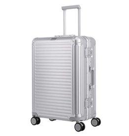 Travelite Next middenmaat koffer - Luxe Aluminium M Trolley 67cm - zilver