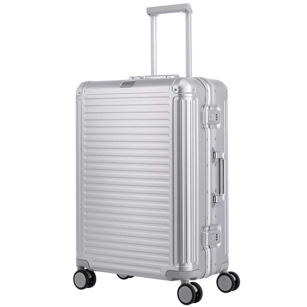 Travelite Next middenmaat koffer - Luxe Aluminium M Trolley 67cm - medium - zilver