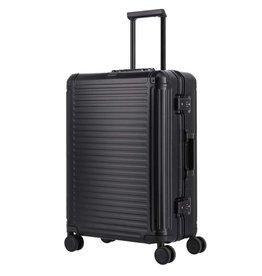 Travelite Next middenmaat koffer - Luxe Aluminium M Trolley 67cm - zwart