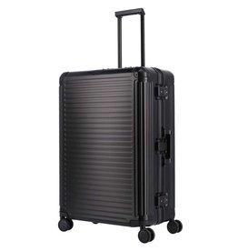 Travelite Next grote maat koffer - Luxe Aluminium L Trolley 77cm - zwart