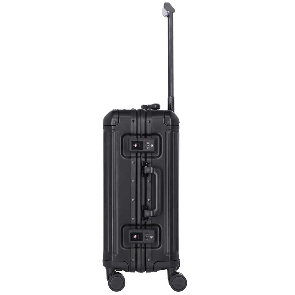 Travelite Next grote maat koffer - Luxe Aluminium L Trolley 77cm - Large - zwart