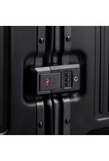 Travelite Next grote maat koffer - Luxe Aluminium L Trolley 77cm - Large - zwart