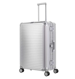Travelite Next grote maat koffer - Luxe Aluminium L Trolley 77cm - zilver