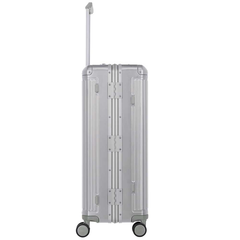Travelite Next grote maat koffer - Luxe Aluminium L Trolley 77cm - Large -  zilver