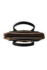 Bag Affair Bag Affair Sassy  15 inch Businessbag - Gemaakt van kurk - Black / Brown