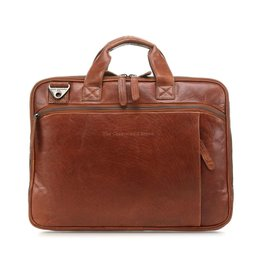 The Chesterfield Brand Chesterfield Manuel Leren 15.4 inch laptoptas Cognac