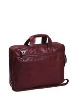 The Chesterfield Brand Chesterfield Manuel Leren 15.4 inch laptoptas Rood