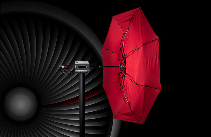 Knirps Knirps T-200 M Duomatic Windproof Paraplu  - Difference Red