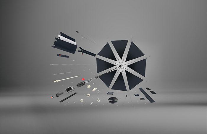 Knirps Knirps T-200 M Duomatic Windproof Paraplu  - Challenge Black