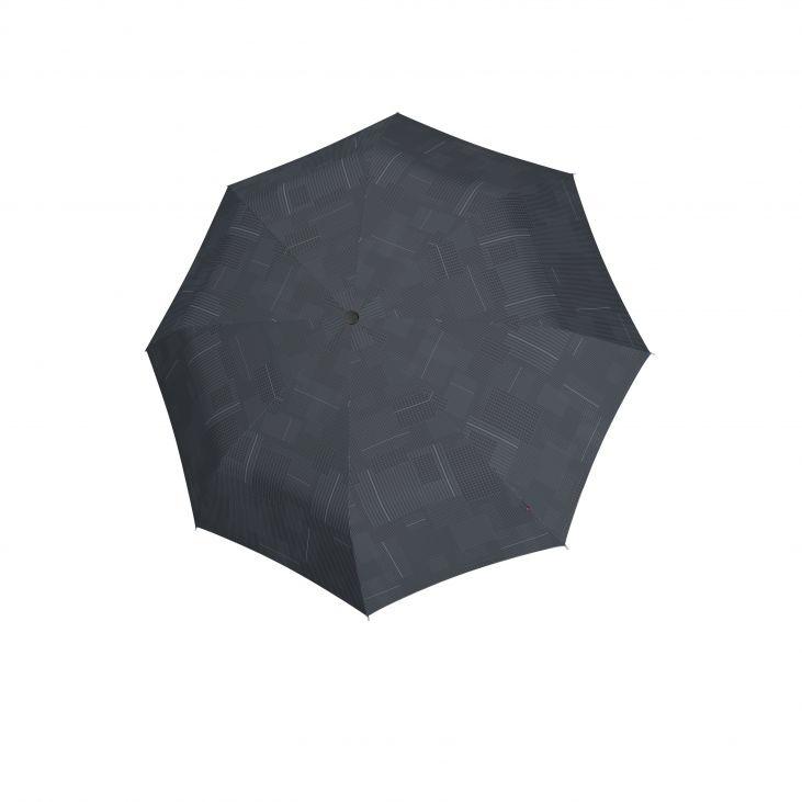 Knirps Knirps T-260  Duomatic  Windproof Paraplu met ronde handgreep - Challenge Black