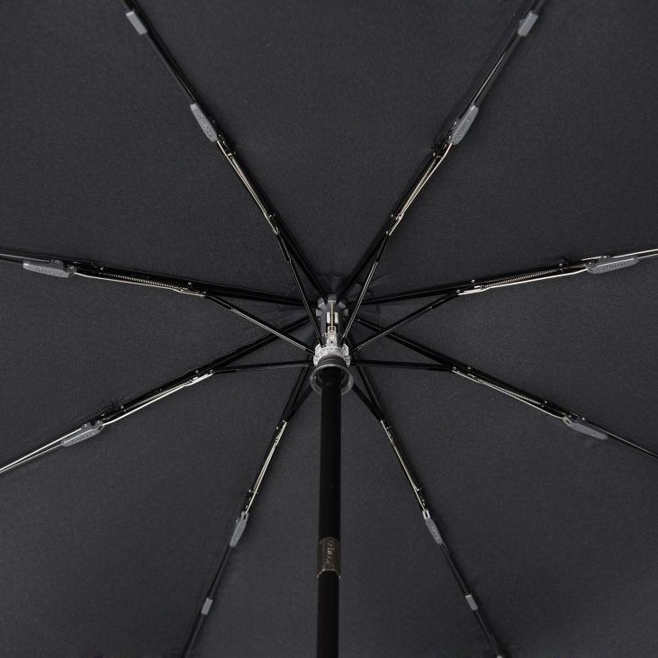 Knirps Knirps T-260  Duomatic Black Windproof Paraplu met ronde handgreep