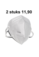 Tweemaal Beschermend mondkapje KN95 / FFP2 mondmasker